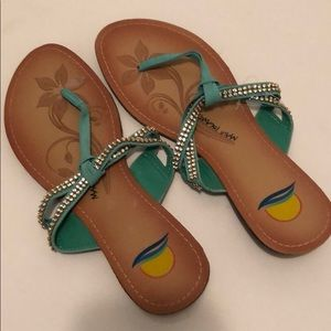 Shoes - Teal sandals